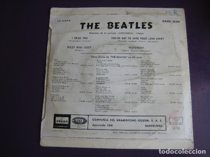 Discos de vinilo: THE BEATLES EP EMI ODEON 1965 yesterday/ i need you +2 - Foto 2 - 162133574