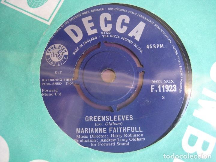 Discos de vinilo: Marianne Faithfull Sg DECCA 1964 - As Tears Go By +1 ROLLING STONES - Foto 2 - 162134830