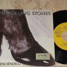 Discos de vinilo: THE ROLLING STONES ENCIENDELO (START ME UP-NO USE IN CRYING) SINGLE ESPAÑOL 1981.PROMOCIONAL. Lote 176042437