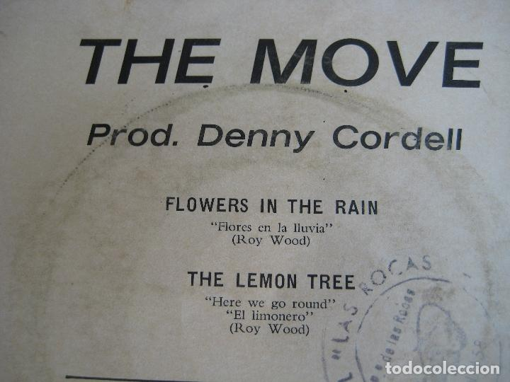 Discos de vinilo: THE MOVE Sg EMI 1967 flowers in the rain/ the lemon tree - MOD POP PSICODELIA - Foto 3 - 162138222
