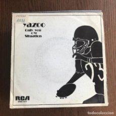 Discos de vinilo: YAZOO - ONLY YOU - SINGLE MUTE 1982 PROMO. Lote 162139950