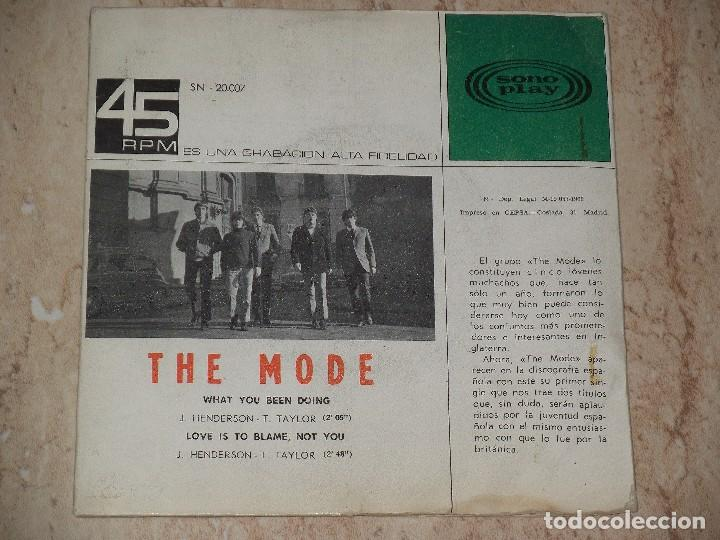 Discos de vinilo: THE MODE - WHAT YOU BEEN DOING / LOVE IS TO BLAME, NOT YOU / 1966 MOD FREAKBEAT-PROMO-SONOPLAY- - Foto 2 - 162145766
