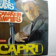 Discos de vinilo: DISCO VERGARA CON DOS GRABACIONES DEL HUMORISTA JOAN CAPRI -CATALAN. Lote 162149330