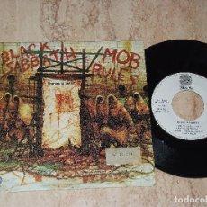 Discos de vinilo: BLACK SABBATH - BLACK SABBATH ?– MOB RULES = DOMINA LA MASA - SINGLE-ESPAÑA VERTIGO 1981. Lote 162149826