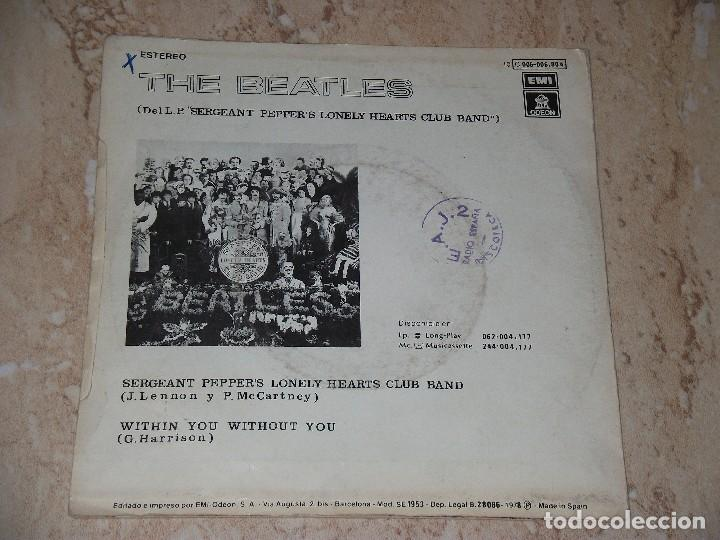 Discos de vinilo: The Beatles?–Sgt. Peppers Lonely Hearts Club Band-SINGLE-SPAIN-1978Odeon ?10C006-006804-PROMOCIONAL - Foto 2 - 162156234