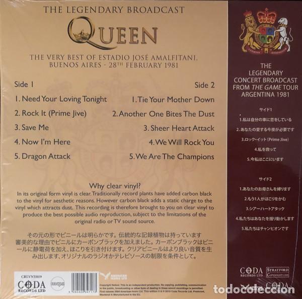Discos de vinilo: Queen - Now We're Here (Estadio José Amalfitani 1981) - LP. Limited edition clear vinyl - Foto 2 - 162185422