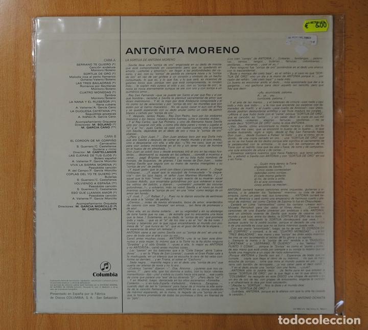 Discos de vinilo: ANTOÑITA MORENO - ANTOÑITA MORENO - LP - Foto 2 - 162207297