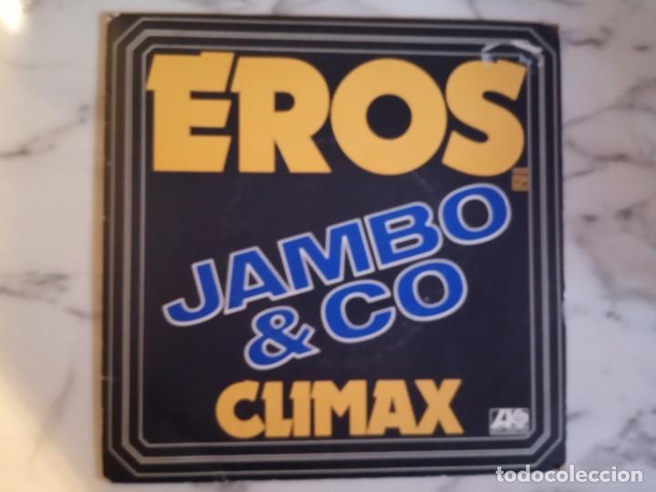 JAMBO & CO EROS / CLIMAX DISCO AMBIENT ELECTRÓNICA ORIGINAL FRANCIA 1977 MUY RARO NM (Música - Discos - Singles Vinilo - Electrónica, Avantgarde y Experimental)