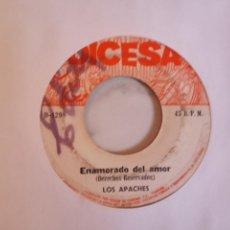 Discos de vinilo: LOS APACHES ENAMORADO DEL AMOR/LA ÚLTIMA CANCIÓN LATIN BEAT SALVADOR ORIGINAL PANAMÁ 1971 VG/VG-. Lote 162268962