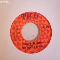 Discos de vinilo: TITO PUENTE & LA LUPE AMOR CIEGO / JUGANDO MAMA JUGANDO LATIN SOUL BOLERO ORIGINAL USA 196? RARO NM. Lote 162284878