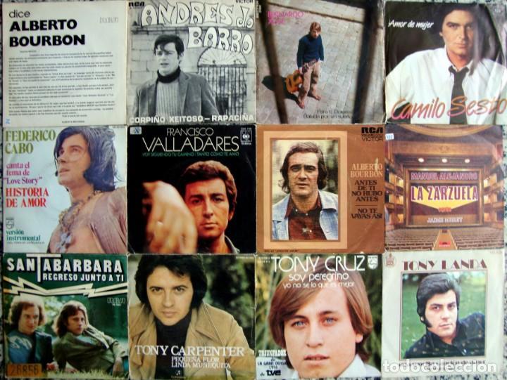 LOTE 12 SINGLES. SOLISTAS ESPAÑOLES DE LOS 70S. (Música - Discos - Singles Vinilo - Solistas Españoles de los 70 a la actualidad)