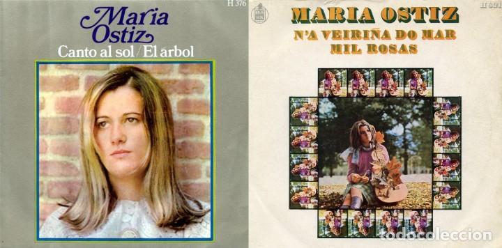 MARÍA OSTIZ. LOTE 2 SINGLES. (Música - Discos - Singles Vinilo - Solistas Españoles de los 50 y 60)