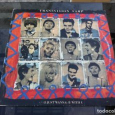 Discos de vinilo: MAXI SINGLE. TRANSVISION VAMP. I JUST WANNA... 1991, ESPAÑA. Lote 162292146