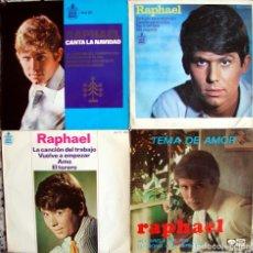 Discos de vinilo: RAPHAEL. 3 EPS ORIGINALES DE LOS 60S.. Lote 162293746