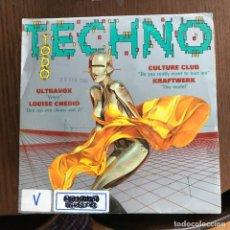 Disques de vinyle: VV.AA. - TODO TECHNO - SINGLE CBS 1993 - PROMO - ULTRAVOX, CULTURE CLUB, KRAFTWERK, LOUIS CHEDID . Lote 162294166