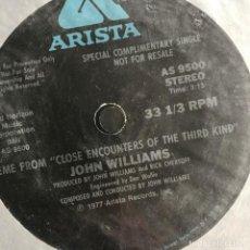 Discos de vinilo: CLOSE ENCOUNTERS OF THE THIRD KIND (ENCUENTROS EN LA TERCERA FASE) - BSO - SINGLE 1977 UK PROMO . Lote 162296498