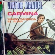 Discos de vinilo: VICTOR MANUEL. 3 SINGLES ORIGINALES.. Lote 162296678