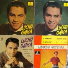 Discos de vinilo: LUCHO GATICA. 4 EPS ORIGINALES.. Lote 162299890