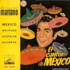Discos de vinil: LUIS MARIANO. CANCIONES DEL FILME 'EL CANTOR DE MÉXICO'. Lote 162302182