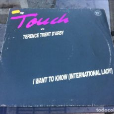 Discos de vinilo: MAXI SINGLE. THE TOUCH WITH TERENCE TRENT D'ARBY I WANT TO KNOW...1989, GERMANY. Lote 162304990