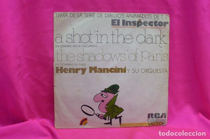 HENRY MANCINI - A SHOT IN THE DARK, THE SHADOWS OF PARIS, VICTOR, RCA, 1972. (Música - Discos - Singles Vinilo - Orquestas)