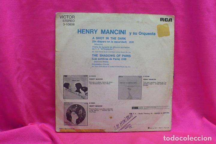 Discos de vinilo: henry mancini - a shot in the dark, the shadows of paris, victor, rca, 1972. - Foto 2 - 162309682