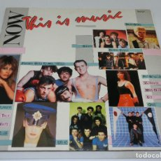 Discos de vinilo: LP DOBLE - NOW THIS IS MUSIC 1 - CARPETA DOBLE GATEFOLD - VARIOS ARTISTAS - 1984. Lote 162324194