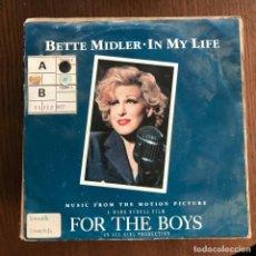 Discos de vinilo: FOR THE BOYS - BSO - BETTE MIDLER - SINGLE ATLANTIC ALEMANIA 1991 . Lote 162335790