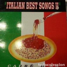 Discos de vinilo: CARRÉ D'AS ?– ITALIAN BEST SONGS II - MAXI-SINGLE SPAIN 1991. Lote 162375610
