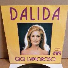 Discos de vinilo: DALIDA / GIGI L'AMOROSO / SINGLE-POP LANDIA-1974 / EN CALIDAD LUJO. ****/****. Lote 162389602