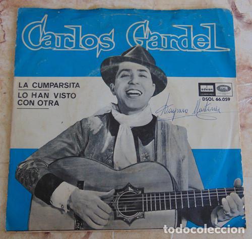 CARLOS GARDEL – LA CUMPARSITA - SINGLE ODEON 1964 (Música - Discos - Singles Vinilo - Grupos y Solistas de latinoamérica)