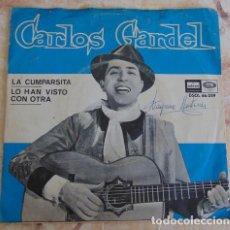 Discos de vinilo: CARLOS GARDEL – LA CUMPARSITA - SINGLE ODEON 1964. Lote 162394510