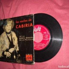Discos de vinilo: LAS NOCHES DE CABIRIA - BANDA SONORA NINO ROTA , EP SPA 1958. Lote 162403758