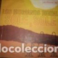 Discos de vinilo: LOS HERMANOS RIGUAL MEZZANOTTE /SOL ESOLE RCA VICTOR SANREMO 64 ITALY . Lote 162445642
