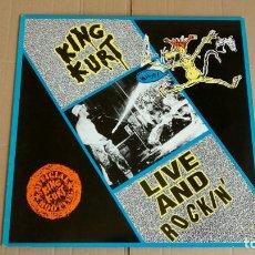 Discos de vinilo: KING KURT LIVE AND ROCKIN' VINILO. Lote 162469882