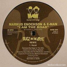 Discos de vinilo: MARKUS ENOCHSON & E-MAN – I AM THE ROAD (BUGZ IN THE ATTIC REMIX) / MAW RECORDS – MAW 090 / 2003. Lote 162474290