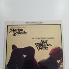 Disques de vinyle: LAST TANGO IN PARIS ( 1975 UNITED ARTISTS ESPAÑA ) EL ULTIMO TANGO EN PARIS GATO BARBIERI BERTOLUCCI. Lote 162491602