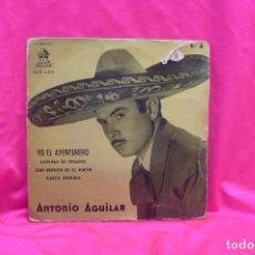 Discos de vinilo: ANTONIO AGUILAR, YO EL AVENTURERO, LAGUNA DE PESARES, QUE BONITO ES EL AMOR, CARTA PERDIDA, ODEON.. Lote 162493698