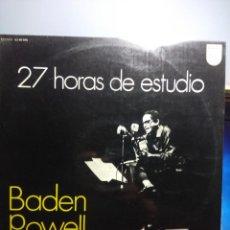 Discos de vinilo: LP BADEN POWELL : 27 HORAS DE ESTUDIO. Lote 162494010