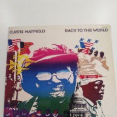 Discos de vinilo: CURTIS MAYFIELD BACK TO THE WORLD ( 1973 BUDDAH RECORDS CURTOM ESPAÑA ) IMPRESSIONS. Lote 162494218