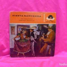Discos de vinilo: FIESTA RANCHERA, CHELA, CAMINO DE LA SIERRA, ANGELITOS NEGROS, AMORCITO CORAZÓN, POLYDOR, 1959.. Lote 162497554