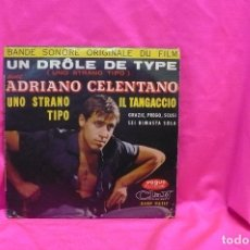 Discos de vinilo: UN DRÔLE DE TYPE, AVEC ADRIANO CELENTANO, IL TANGACCIO, GRAZIE PREGO SCUSI, + 2, VOGUE DURIUM.. Lote 162508426