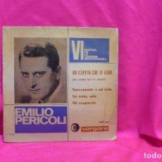 Discos de vinilo: VI FESTIVAL DE LA CANCION MEDITERRANEA, 1964, EMILIO PERICOLI, HO CAPITO CHE TI AMO, + 3, VERGARA.. Lote 162537470