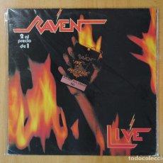 Discos de vinilo: RAVEN - LIVE AT THE INFERNO - LP. Lote 162574870