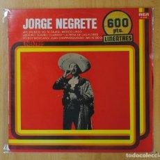 Discos de vinilo: JORGE NEGRETE - JORGE NEGRETE - LP. Lote 162575682