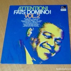 Discos de vinilo: FATS DOMINO - ATTENTION! FATS DOMINO! VOL.2 (LP 1965, FONTANA SPECIAL 6430.100). Lote 162581598