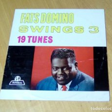 Discos de vinilo: FATS DOMINO - SWINGS 3 (LP IMPERIAL ILW 1021). Lote 162581826