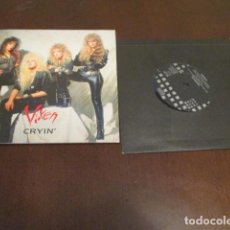 Discos de vinilo: VIXEN - SINGLE - CRYIN - GATEFOLD - AOR - HARD ROCK - PORTADA DESPLEGABLE. Lote 162586214