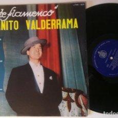 Discos de vinilo: JUANITO VALDERRAMA - CANTE FLAMENCO - RARO LP BRASILEÑO - HISPAVOX. Lote 162592342
