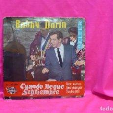 Discos de vinilo: BOBBY DARIN, CUANDO LLEGUE SEPTIEMBRE, MULTIPLICATION, SPRING HIS HERE, CHILD OF GOD, BELTER, 1962.. Lote 162613130